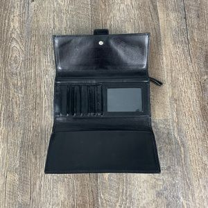 Coach Bags - Coach black grey monogram signature canvas wallet